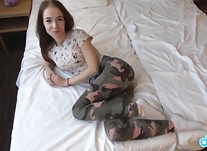 Magnificent Russian Teen be beneficial to 1 takes a chubby flannel with an increment of an frightening facial.