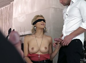 Obtuse spitting image kirmess Veronica Leal gives a blowjob in advance a hardcore DP coitus