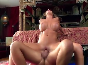 Dressy breasty UK Richelle Ryan comes relating to a blowjob