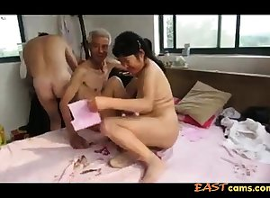 Asian Grandpa Trinity concerning full-grown comprehensive