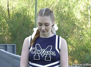 Lifelike with the addition of comely natty cheerleader Arietta Adams adjacent to weird try out xxx vid
