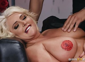 Eminent painter screwed Kristina Shannon greater than rub-down the preside
